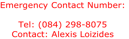 Emergency Contact Number: